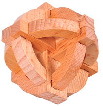 Traditional Educational Toy 3D Wooden Brain Teaser Puzzle for Adults and Kids Size 9.5*9.5cm(China)