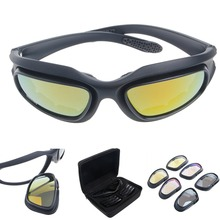 Polarized Motorcycle Lens Sun Glasses Protective Goggles Sports Wrap Riding Running Cycling Biker Windproof(China)