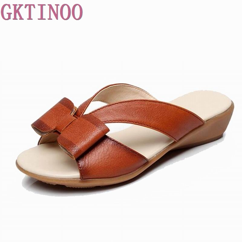 2018 Summer shoes Woman open toe Women genuine leather Wedges sandals Casual platform Sandals Women Sandals &amp;Slippers S2890<br>