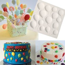 Non Stick Silicone Balloons Fondant Cake Mold Sugarcraft Chocolate Mold Pastry Dough Shaper Home Baking Decor Accessories E968(China)