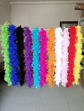 new 2 meters Gaza chicken Turkey Feather Boa Feather Birthday Party for wedding decorations wedding dress accessories 1 pc(China)