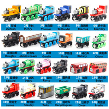 Wooden Toy Vehicles Thomas and His Friends Wood Trains Model Toy Magnetic Train Great Kids Christmas Toys Gifts for Boys Girls(China)