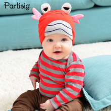Brand Baby Hat Crab Shaped Cotton Knit Cap For Baby Boy Girl Infant Photograph Props Cartoon Spring Autumn Kids Hats Caps(China)