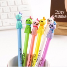 12/pcs New Fashion & Cute Sunny doll gel ink pen ,Office and School Pen for Kids Students Ball pen