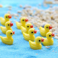 3D Mini Yellow Duck Resin Process Decorative Jewelry DIY Crafts All Games Beautify Dolls Small Jewelry 10pcs