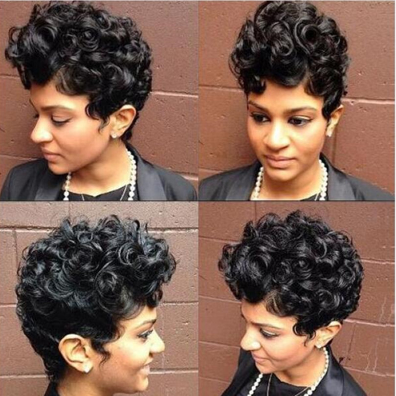 New wigs for black women Sexy Fashion short curly Ladys Synthetic Hair Wig Heat Resistant Fiber Free Cap<br><br>Aliexpress