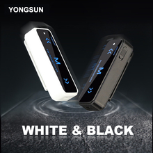 YONGSUN Smallest Mini Walkie Talkie 0.5W UHF 400-470Mhz PMR Ham Radio FM Transceiver Two Way Radio USB Charging + Headset 2PCS