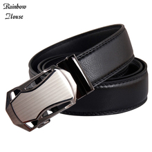 New 2017 Belts Fashion Mans Casual Automatic Buckle Men Designer Belts Business Split Leather Male Belts Luxury