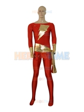 Captain Marvel Superhero Costume For Adult Male Lycra Sapndex Halloween Cosplay Party Zentai Suit The Most Classic Free Shipping