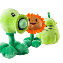 35cm Kawaii Plants vs Zombies Plush Toys Pea Shooter Sunflower Squash Soft Stuffed Toys Doll Kids Toy for children Gifts Special(China)
