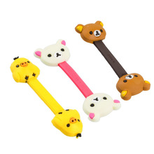 3pcs Cable Tie Cord Organizer Wire Wrap Headset Headphone Earphone Wrap Winder Cute Cartoon Animal (Duck, Bear, Pig)
