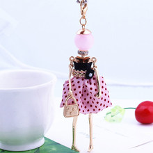 6 Colors French Paris Doll Necklace Dress Long Chain Alloy Doll Pendant Fashion Jewelry For Women 2016  Summer News Accessories