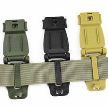 Practical Outdoor Molle Strap Buckle Backpack Bag Webbing Connecting Buckle Clip 26mm Black/Khaki EDC Tool Accessories