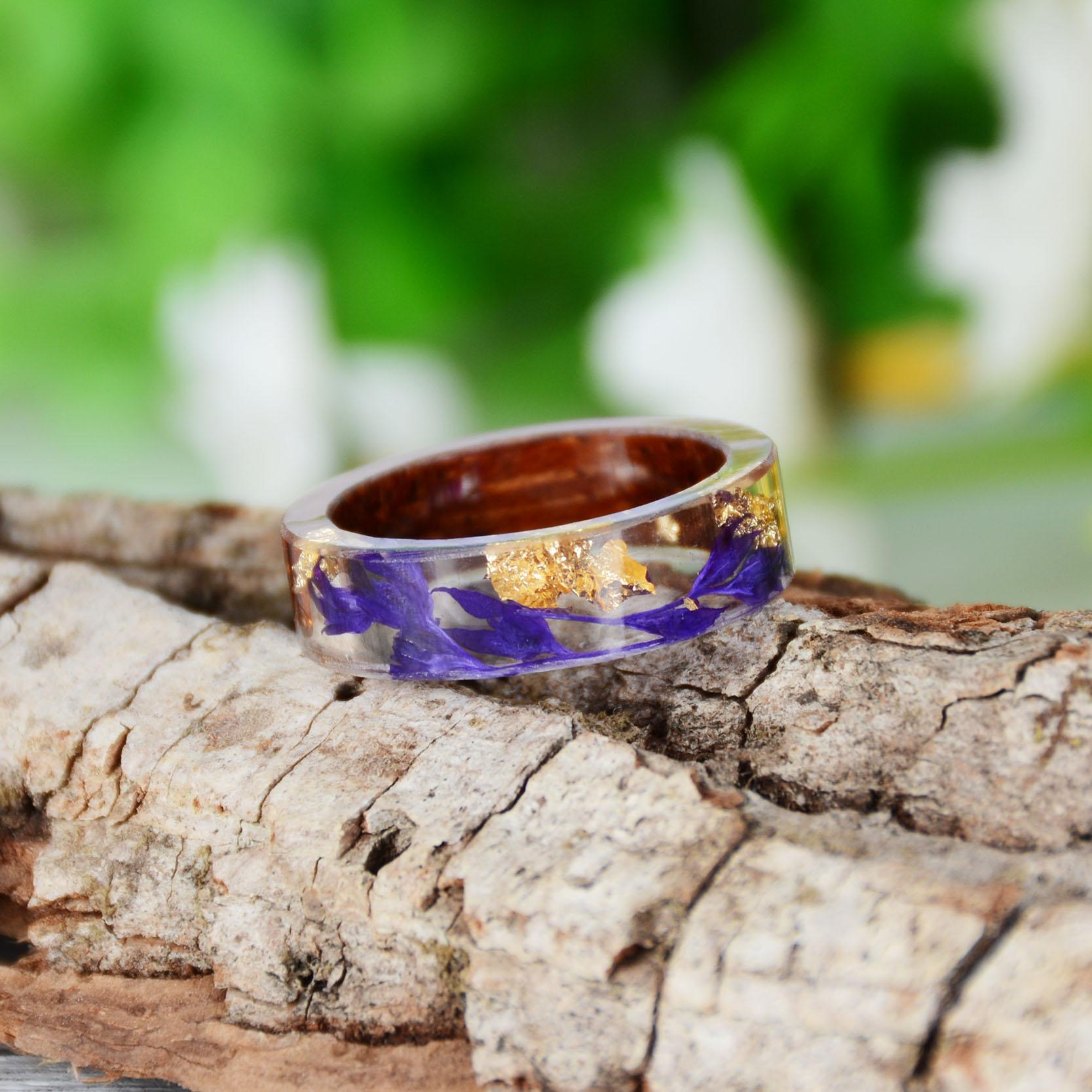Handmade Wood Resin Ring Many Styles 34