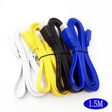 4 Pack 5 FT 4 colors HDMI Cable High Speed Premium 1.4 1080P Male HDTV PS3 DVD LCD Noodle(China)