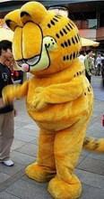 Real picture was taken Garfield cat mascot adult size mascot free shipping