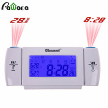 Sound Control Digital Alarm Clock LED Screen Tempreture Display with 8 Second EL Backlight Snooze Dual Projection Alarm Clock(China)