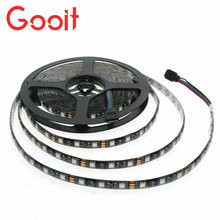 5m/Lot 5050 Black PCB LED Strip 12V Flexible Decoration Lighting IP65 Waterproof LED Tape RGB/White/Warm White/Blue/Green/Red(China)
