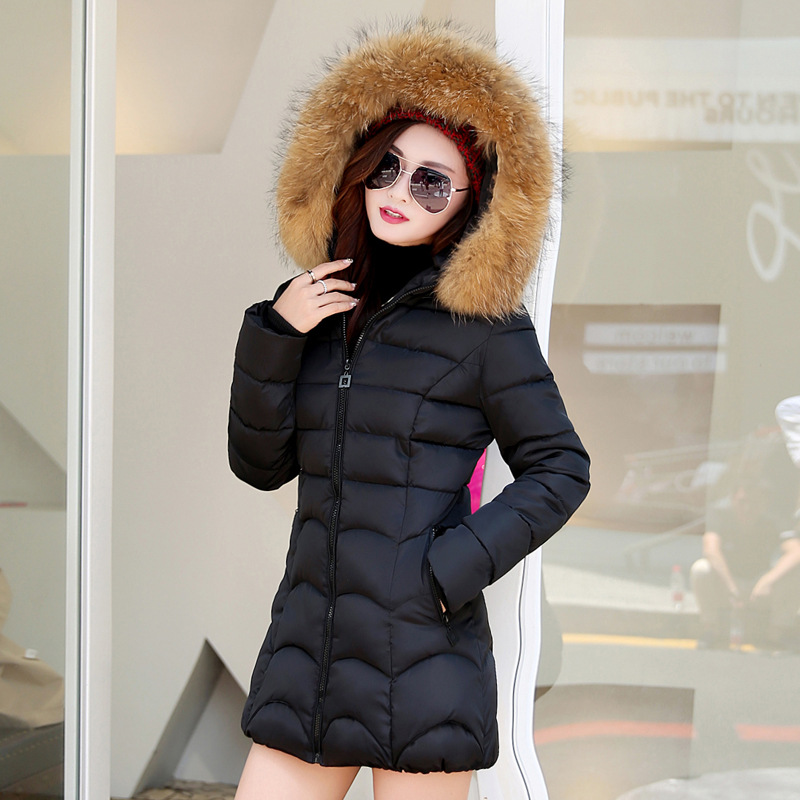 2016 new coat down cotton-padded clothes long big size female fashion womens clothing women Fur hooded winter jacket YRF161112Одежда и ак�е��уары<br><br><br>Aliexpress