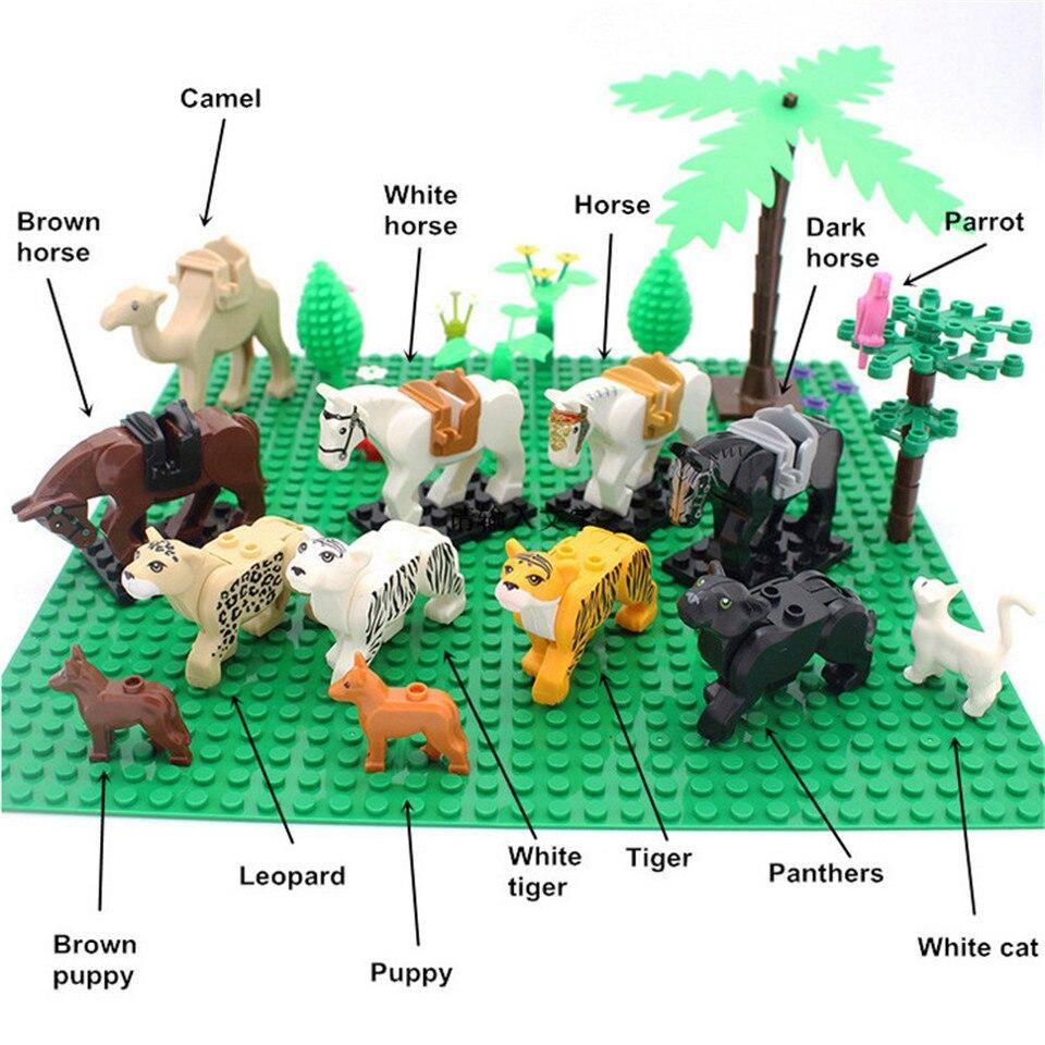 Compatible LegoINGlys City DIY MOC Accessories Parts Green Bush Flower Grass Tree Plants Garden Building Blocks Toys Set (6)