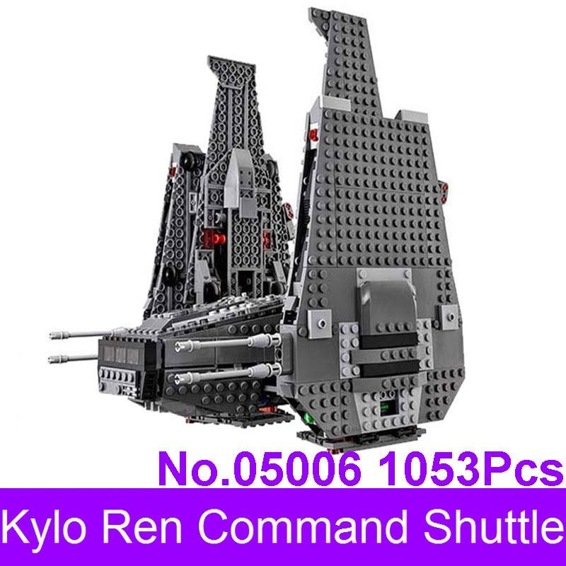 LEPIN 05006 1053Pcs Star Series Wars The Force Awakens Kylo Ren Command Shuttle Model Building Kits Blocks Bricks 75104<br>