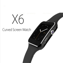 "New X6 Smartphone Watch 1.54"" Curved Touch Screen Smartwatch Phone Facebook SYNC MP3 Pedometer Smart Watch Anti Lost Watches"