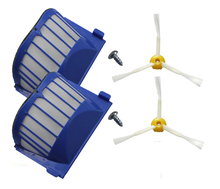 New 2 Armed Brush & 2 Aero Vac Filter & Screw For iRobot Roomba 600 Series 620 630 650 660