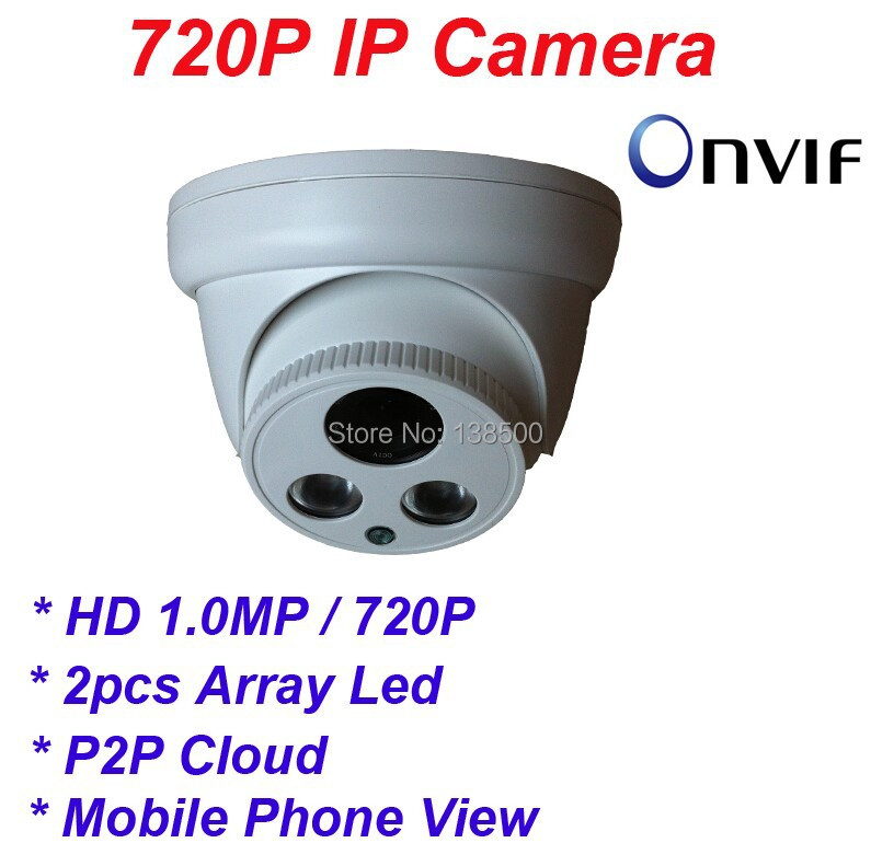 Free Shipping Hot Selling HD 720P 1MP Mini IP Camera ONVIF ARRAY Dome Security Network Camera 6MM<br><br>Aliexpress