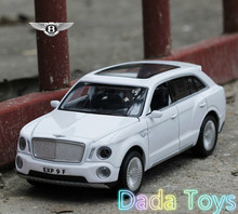 High Quality 1:32 children toy acousto-optic die-cast alloy Bentley car model with sound and light in gift box