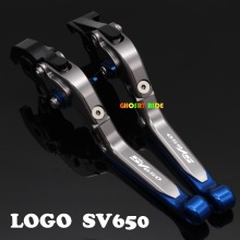 With Logo(SV650)CNC New Adjustable Motorcycle Brake Clutch Levers For SUZUKI SV650 SV650S 1999 06 07 08 2009(China)