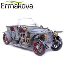 "ERMAKOVA 36cm(14.1"")Handmade Metal Gran Torino Vintage Classic Rolls-Royce Open Car Model Vehicle Model Gift Home Decor"