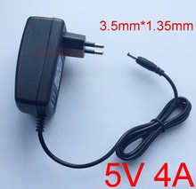 1PCS 5V4A AC 100V-240V Converter Adapter DC 5V 4A 4000mA Power Supply EU Plug 3.5mm x1.35mm(China)