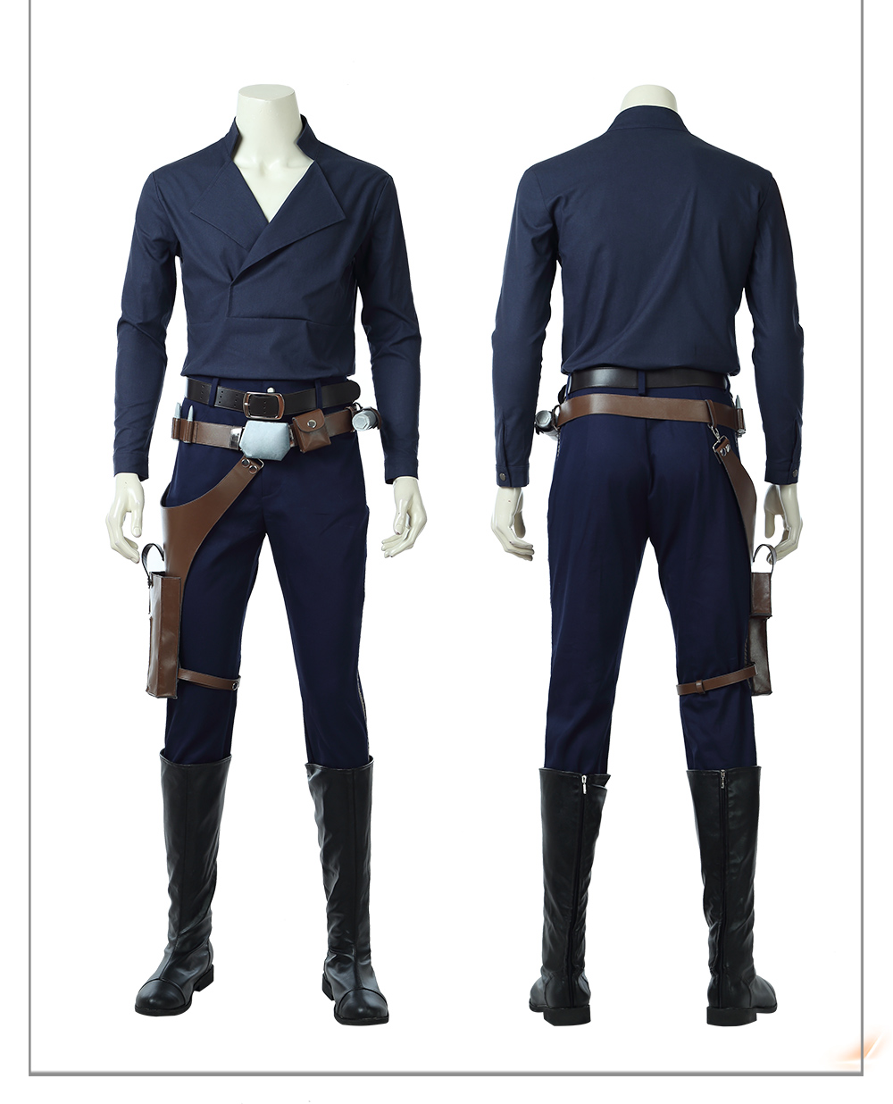 HZYM Star Wars The Last Jedi Luke Skywalker Cosplay Costume Full Set Halloween