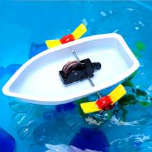High Quality 1PC Plastic Science Technology Experiment DIY Educational Boat Toys Learning Gifts Model Building Kits Baby Toys