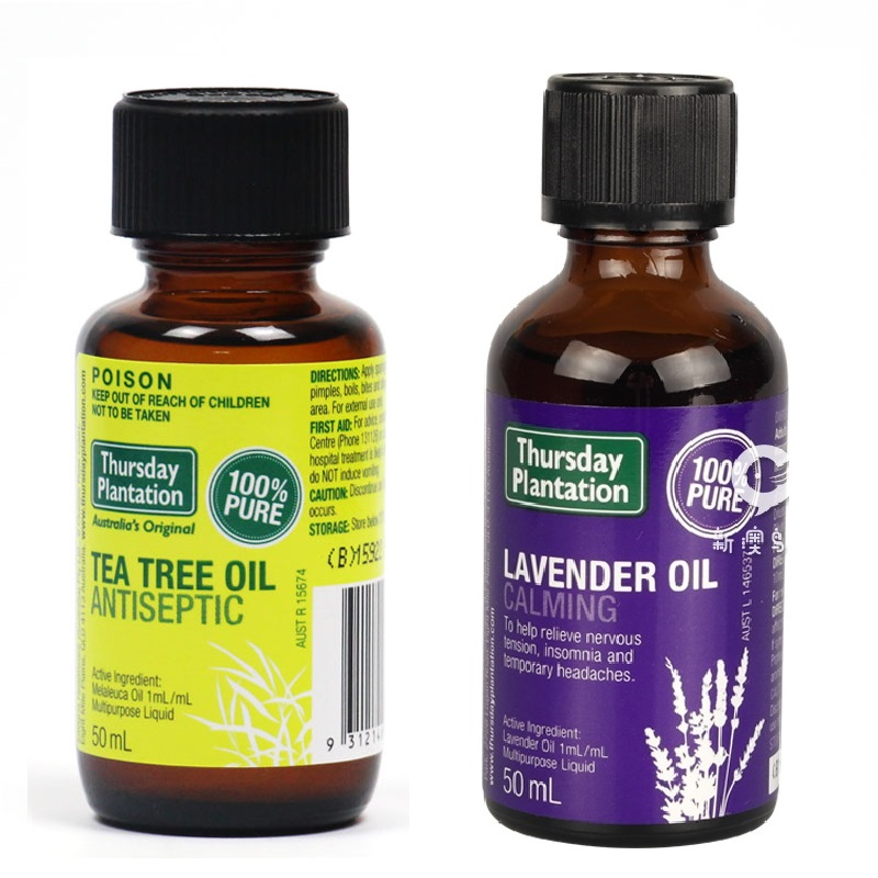 Thursday Tea Tree Oil Lavender Oil Ultrasonic Diffusers Essential Oil Aromatherapy Household Use Antiseptic Relieves Cuts burns<br>