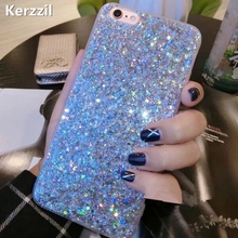 Buy Kerzzil Candy Shining Powder Sequins Case iPhone 7 6 6S Plus Phone Soft Silicone Glitter Cover Back iPhone 6 7 6S Capa for $1.99 in AliExpress store
