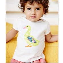 Baby Girls Clothes Duck T-Shirts Short Sleeve Fashion Girls Dresses Jumpers Outfits Summer kids tops polo shirt