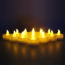 16PCS/Lot LED Tealight Battery Operated Flickering Flicker Flameless Tea Candles Light for Wedding Birthday Party Christmas Home