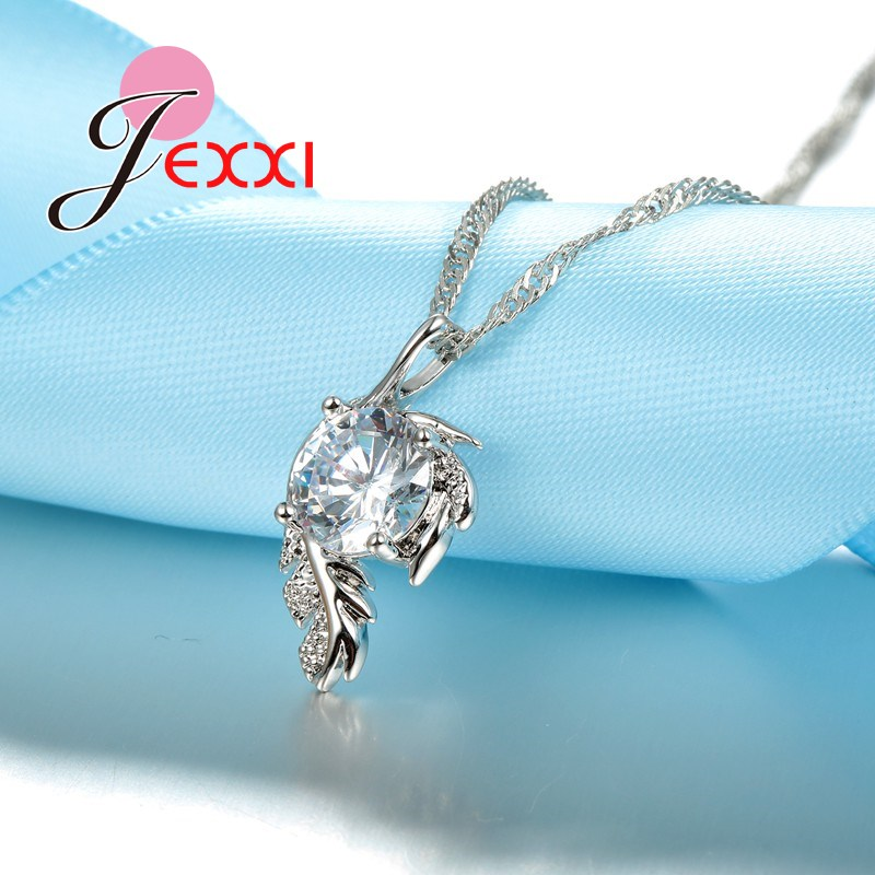 PATICO-Trendy-CZ-Crystal-Leaves-Design-Pendant-Necklace-Jewelry-For-Women-With-925-Sterling-Silver-Chain