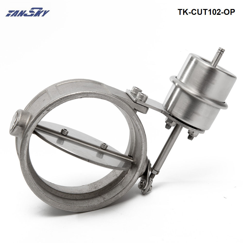 TANSKY- NEW Vacuum Activated Exhaust Cutout/Dump 102MM OPEN Style Pressure: about 1 BAR For Ford Mustang 86-93 TK-CUT102-OP