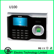 TCP/IP communication U100 fingerprint time clock optical sensor fingerprint time attendance optional ID or IC card time recorder(Hong Kong)