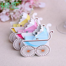 25Pc 8*3*9cm Paper Candy Box Stroller Shape Baby Shower Kids Favor Birthday Party Wedding Gifts Christening Boutique Supplies