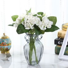 12.9''PU Latex Artificial Hydrangea Flower for Wedding Decoration Real Touch Fake Flowers 3 Pcs Home Decorative Floral
