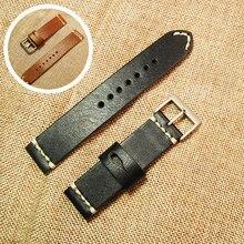 20 мм кожаный браслет ремешок с пряжкой из нержавеющей стали ручной ремешок аксессуары(China)