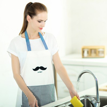 Household Aprons Commercial Restaurant Home Residential Bib Spun Cotton Pockets Aprons Bib Kitchen Cooking White Chefs Aprons(China)