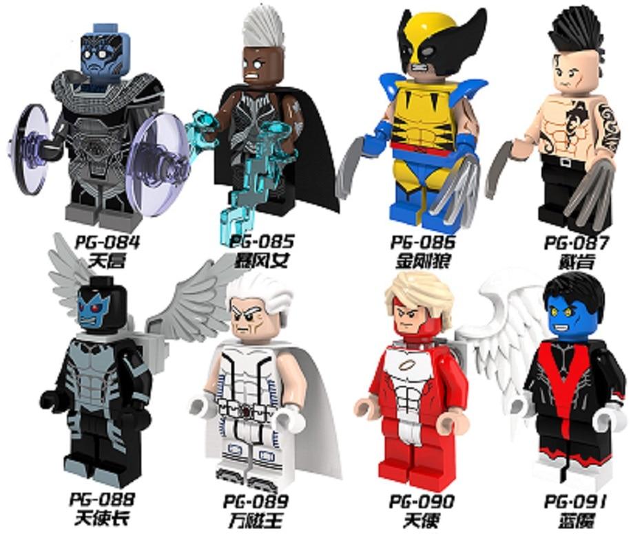 Marvel X-men Minifigures Magneto Storm Wolverine Apocalypse Daken Archangel Angel Nightcrawler  Bricks Toys Legoes Compatible<br><br>Aliexpress