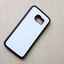 TPU rubber laterals 2D sublimation case for sumsung S7 case with aluminium metal sheet 20pcs/lot