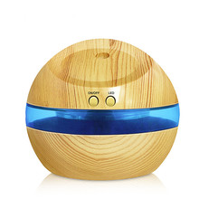 USB Ultrasonic Humidifier, 300ml Aroma Diffuser Essential Oil Diffuser Aromatherapy Mist Maker With Blue LED Light(China)