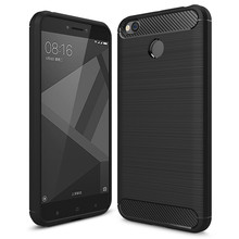 For Xiaomi Redmi 4X Cases Luxury Carbon Fiber Soft Cover Case For Xiaomi Redmi 4X Cover Anti-drop TPU Phone Shell(China)