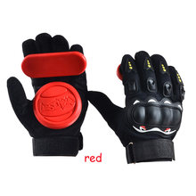 Skateboard Longboard Slide Gloves With Slider Professional Protective Gloves For Skating(China)